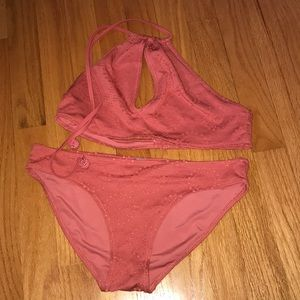 2 peice high neck swimsuit